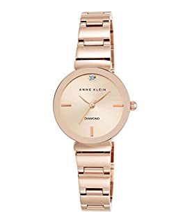 Anne Klein Women's AK/2434RGRG Diamond-Accented Rose Gold-Tone Bracelet Watch (B01940RU0E) | Amazon Products