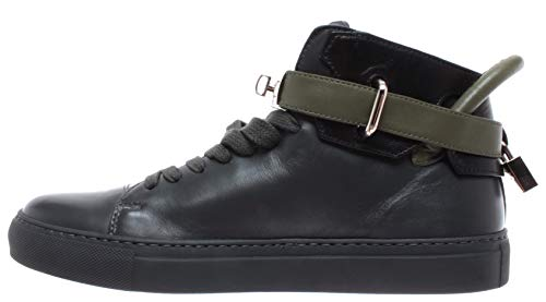 Buscemi Sneakers 100mm Uomo Handmade Italy Scarpe New Olive Gold Black Charcoal PExqP70nr