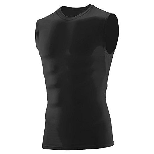 Augusta Sportswear Soccer Shirt - Augusta Sportswear Men's Sleeveless Compression Shirt S Black