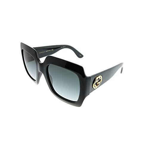 Gucci GG0053S 001 Shiny Black GG0053S Butterfly Sunglasses Lens Category 3 Size,54-25-140