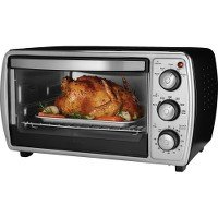 Oster TSSTTVCGBK Convection Countertop Oven with Easy to Use Dial Controls, Silver