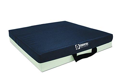 Essential Medical Supply Gel Bladder with Foam Cushion, Blue, 16 x 16 x 3 Inch by Essential Medical Supply