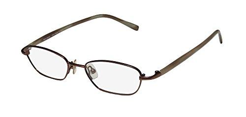 Vera Wang V136 Womens/Ladies Rx-able For Young People Designer Full-rim Eyeglasses/Eyewear (46-17-135, Brown / Beige)