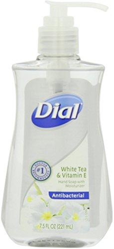 - Dial Antibacterial Liquid Hand Soap, White Tea & Vitamin E, 7.5 Fluid Ounces (Pack of 12)