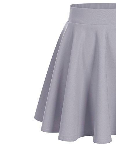 Colore Vita Bridesmay Gonna Mini Solida Grey Casual Donna Alta BqY4q7w