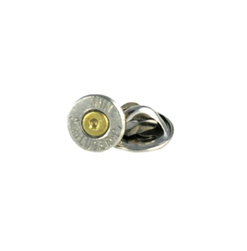 (Winchester 9mm Luger Nickel Bullet Tie Tac-Hat Pin)