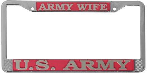 TAG FRAMES (MILITARY) U.S. Army Wife License Plate -