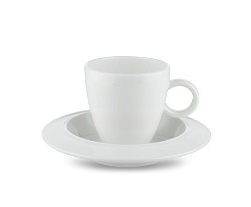 Alessi Bavero Coffee Mocha Espresso Set (Two Cups and Two Saucers) by Alessi (Image #1)