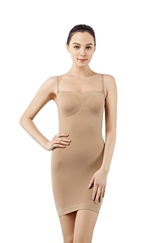 MD Women's Comfort Control Underwire Shaping Slip Plus Size Seamless Body Shaper ()
