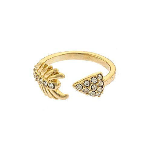 Joji Boutique Golden Crystal Arrow Wrap Ring (Ring Wrap Arrow)