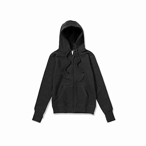 SG - Chaquetilla con capucha y cremallera para mujer Negro