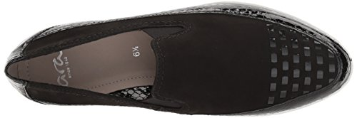 Ara Womens Laurel Loafer Flat Black Combo