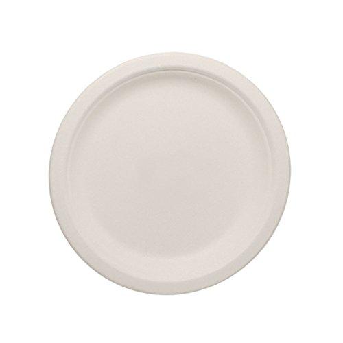 "Lollicup KE-BPR07-1C Karat Earth Bagasse Plate, Round, 7""..."