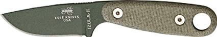 Esee Izula II OD Fixed Blade Knife, 3in, OD Green Powder Coated Carbon Steel,...