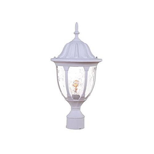 Acclaim 5067TW Suffolk Collection 1-Light Post Mount Outdoor Light Fixture, Textured White by Acclaim
