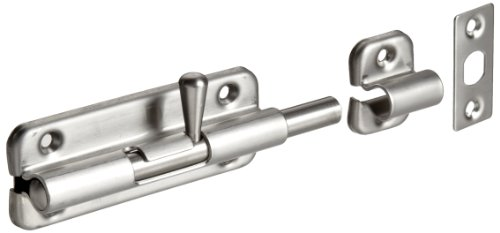 Stainless Steel 304 Spring Loaded Barrel Bolt, Satin Finish, Non Locking, 3-35/64