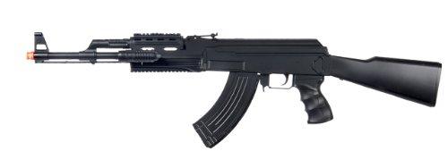 (ukarms p48 ak-47 Spring Airsoft Gun fps-250 w/Aiming Sight, Tactical Flashlight(Airsoft Gun))