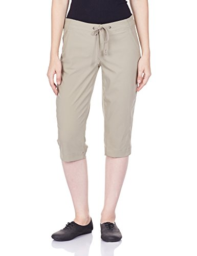 Columbia Women's Anytime Outdoor Capri, Water and Stain Repellent, Tusk 6x18