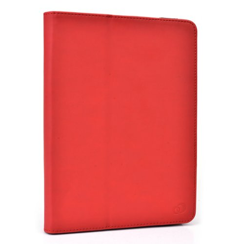 """Icarus Illumina HD Case Stand Folio Protective Cover with Soft Grip Clips - Universal Style fits Most 8"""" Devices   Grenadine Red"""
