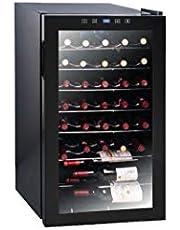 EuropAce EWC 1331S Wine Cooler with Mirror Glass Door, Capacity 33 Bottles, Black