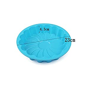 1 piece 8 inch Round Silicone Cake Mold Oven Baking Tools Chiffon Cake Mold (Colors Random)