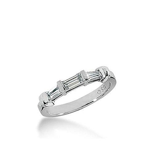950 Platinum Diamond Anniversary Wedding Ring 1 Straight Baguette, 2 Tapered Baguette Diamonds 0.51ctw 329WR1444PLT