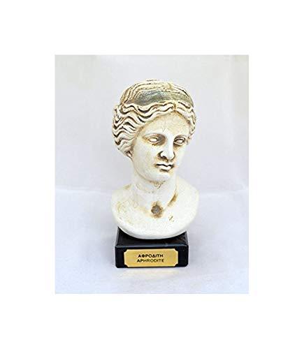 Estia Creations Venus, Aphrodite Bust Greek Goddess of Love and Beauty Sculpture Statue -