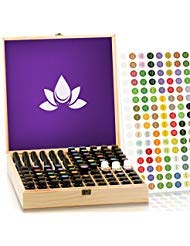 Essential Oil Storage Box - Holds 87 Bottles - Largest Wooden Case Available - Store 5-15ml & roller bottles - Sturdy...