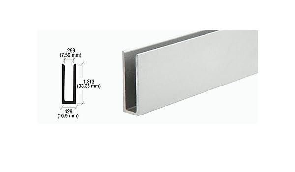 "Satin Anodized 5//16/"" Single Aluminum U-Channel"