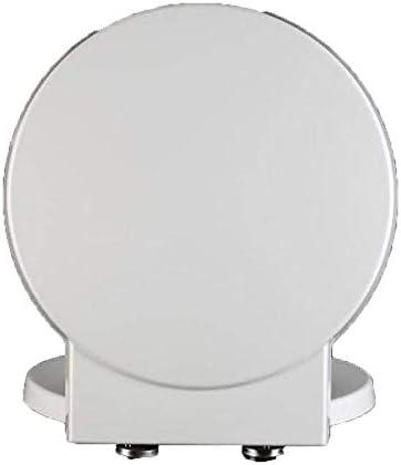 CXMWYトイレのふた 丸型トイレ用抗菌尿素 - ホルムアルデヒド樹脂ミュート厚みの便座カバー付き便座トイレのふた(カラー、ホワイト、サイズ、41.1)