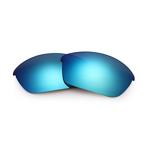 Polarized Replacement Sunglasses Lenses for Oakley Men's Flak Jacket UV Protection Blue 06