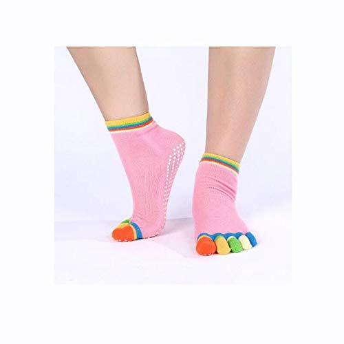 aded52542918e CUSHY 1 Pair Professional Cotton Five Toe Sock Slippers Anti-slip ...
