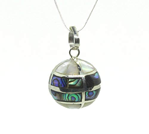 - Abalone Harmony Ball, Angel Caller, Sterling Silver Bola Necklace