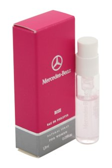 Women Edt Spray Vial (Mercedes-Benz Rose Eau de Toilette Spray Vial for Women, 0.05 Ounce)