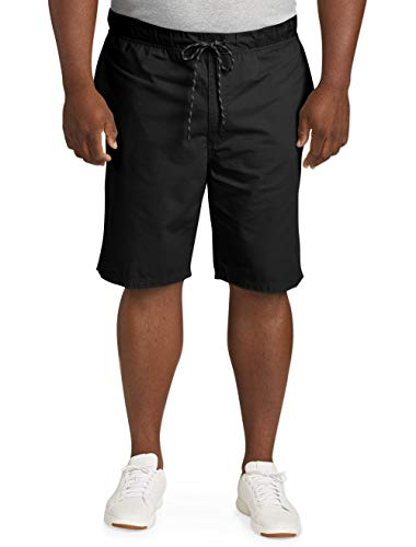 Pull Drawstring Shorts On - Amazon Essentials Men's Big & Tall Drawstring Walk Short, Black, 2X