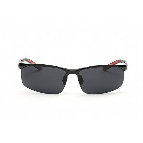 1e5a40b7e2 Gafas de Sol Polarizadas de Al-Mg con Gafas de Sol para Hombres Marco Negro
