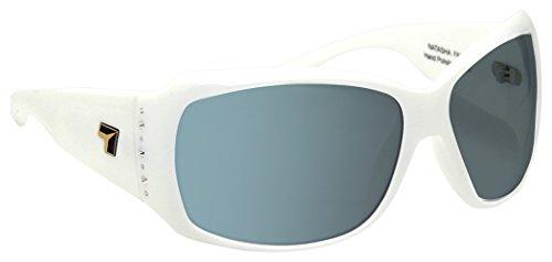 7eye by Panoptx Natasha Frame Sunglasses with Photochromic Gray Lens, Glacier White, - Natasha Sunglasses