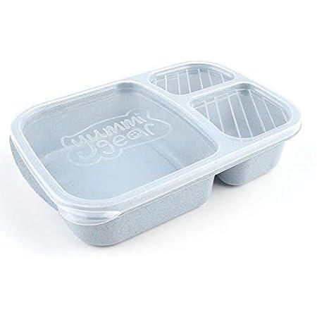 Trigo Paja Bento Box 3 Rejillas con Tapa Microondas Food Box ...