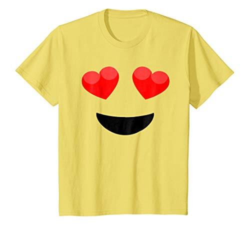 (Kids Halloween Emoji Heart Eyes Costume)