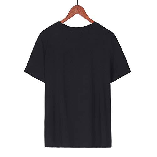 Estive Casual Di Vintage Corte Maglietta Maniche Corta A Felpe Manica O Lettera Top Moda Cotone Prettyjourney♚donna Viola Tumblr Stampata Sciolto Magliette Morbido Comode collo qwR8XxZW