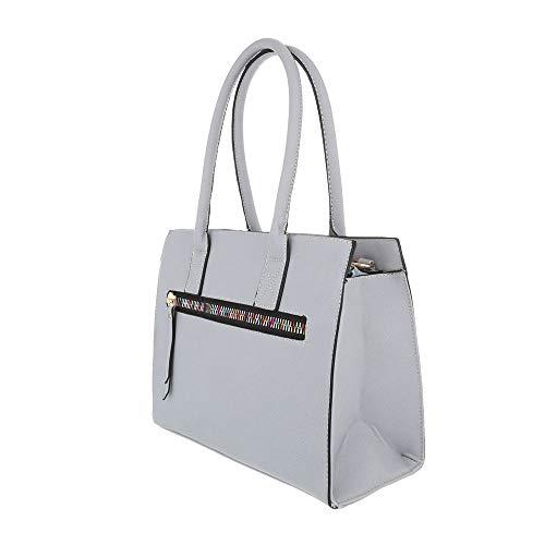para al Size claro Ital hombro de Sintético mujer Design Bolso One gris Gris O7xYqU7