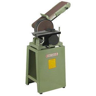 6' X 48' Belt and 9' Disc Combination Sander with Cast Iron Stand, 80-grit Sanding Belt and 80-grit Sanding Disc; 110V, 8 Amp