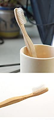 Weinisite Eco-Friendly Adult Soft Bristles Bamboo Toothbrush