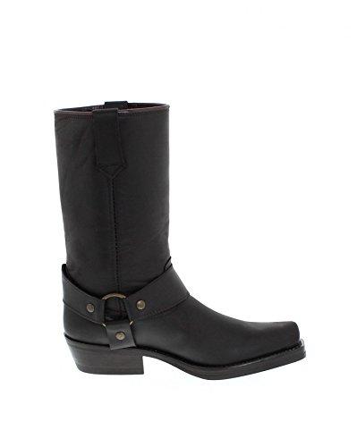 botas estilo FashionBU2005 Unisex adulto oscuro motero marrón wP6qdv0g