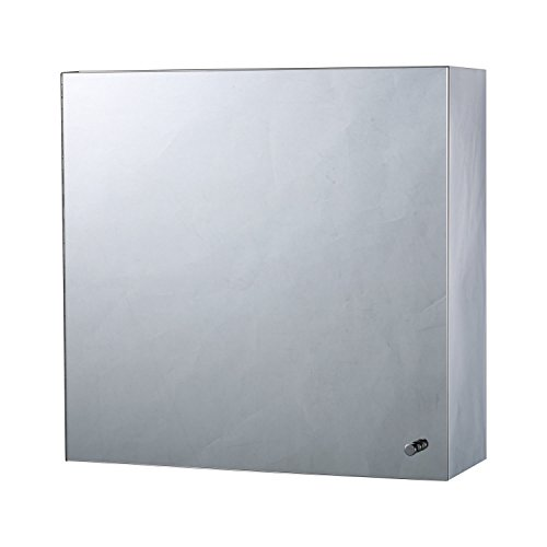 "HomCom 16"" x 16"" Stainless Steel Bathroom Mirror / Medicine Cabinet w/ Tissue (Oval Framed Medicine Cabinet)"