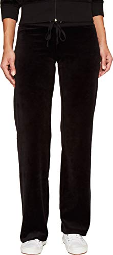 Juicy Couture Women's Mar Vista Velour Pants Pitch Black Pants from Juicy Couture