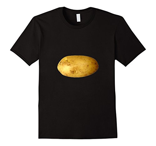 Men's Baking Potato T-Shirt Starchy Vegetable Side Dish Large Black