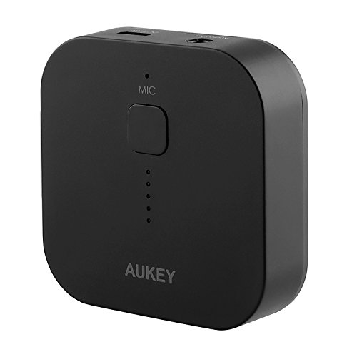 AUKEY Bluetooth Receiver, Audio Music Adapter with Hands-free Calling for Home Audio System and Mobile Audio Devices