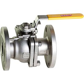 Full Flow Flanged Ball - 1-1/4 In. Stainless Steel Flanged Full Port Ball Valve - 2 Piece - Direct Mount - 300 PSI