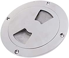 """7.75/"""" Stainless Steel Boat Inspection Plate Deck Access Cap Marine Hardware"""